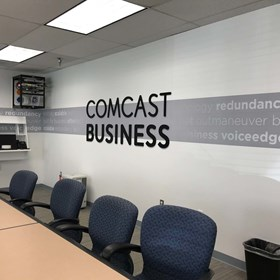 Dimensional Black PVC Letters with Wall Graphics