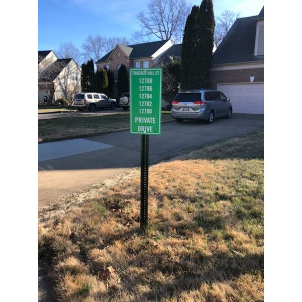 We can give your neighborhood some fresh signage! Keep your visitors informed of where to go with clean, easy to read signs.